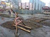 На улице Абрамова снова проблемы с проездом