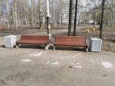 В Майском парке стало больше скамеек и урн